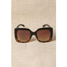 Plastic Frame Oversized Sunglasses -  Brown