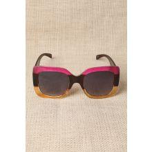 Plastic Frame Oversized Sunglasses -  Pink
