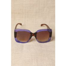 Plastic Frame Oversized Sunglasses -  Purple