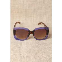 Plastic Frame Oversized Sunglasses -  Purple