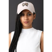 Cool Cat Suede Baseball Cap -  Beige