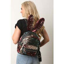 Sequins Bunny Ears Mini Backpack -  Multi 2
