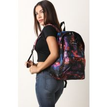 Galaxy Print Backpack -  Multi