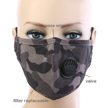 Camouflage Respirator Mask - Brown