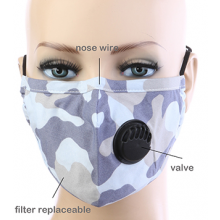 Camouflage Respirator Mask - Grey
