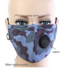 Camouflage Respirator Mask - Blue