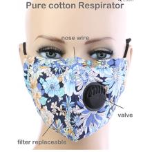 Floral Respirator Mask - Blue