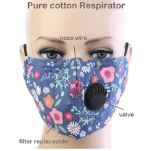 Floral Respirator Mask - Purple