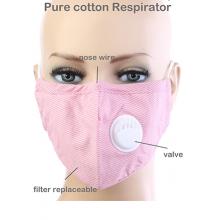 Pink Stripe Respirator Mask