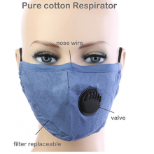 Purple Stripe Respirator Mask