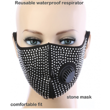 Crystal Respirator Mask  - Black